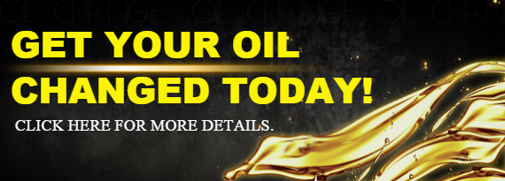 Get your oil changed today!